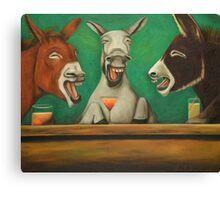 Laughing Donkeys  Canvas Print
