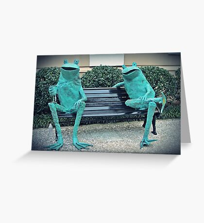 Frog Happy Hour Greeting Card