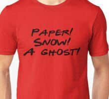 Friends - Paper, Snow, A Ghost Unisex T-Shirt