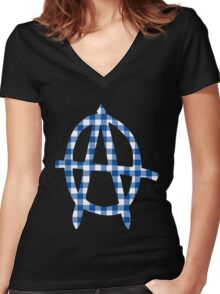 Middle Class Punk Women's Fitted V-Neck T-Shirt