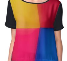 Abstract Multi Coloured Background Chiffon Top