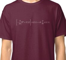 Schrodinger Equation - White Classic T-Shirt