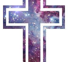 Nebula Cross by Prints-of-Peace