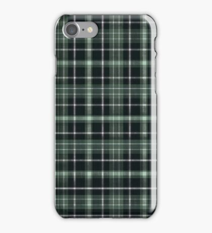 A Cunning Rebellion Green & Black Plaid iPhone Case/Skin