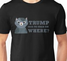 Trump said to grab em where Funny Donald Quote Saying Unisex T-Shirt