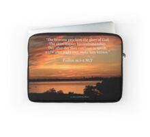 Psalms 19:1-2 Laptop Sleeve