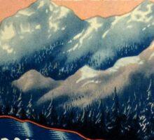 Banff Jasper Lake Louise Vintage Travel Decal Sticker