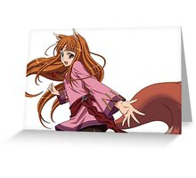 Holo (spice and Wolf) Greeting Card