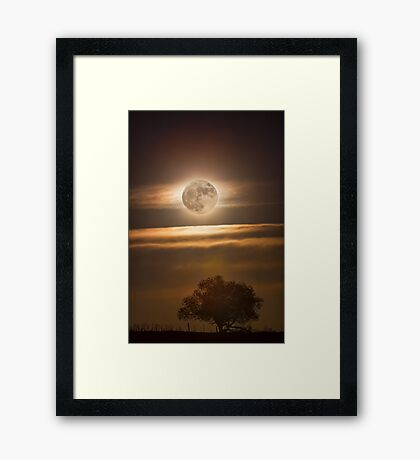 Beautiful Country Night Framed Print