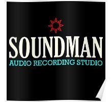 Vintage Colorful Soundman Poster