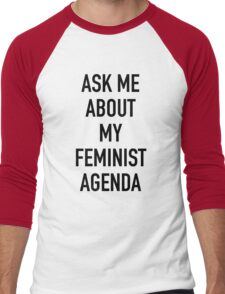 Ask me about my feminist agenda (Marvel) Men's Baseball ¾ T-Shirt