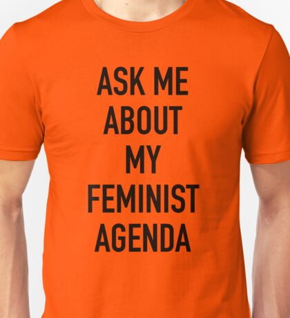Ask me about my feminist agenda (Marvel) Unisex T-Shirt
