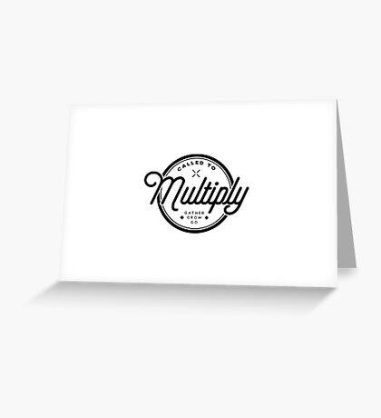 Multiply Circle Greeting Card