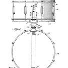 Snare Drum by H.H. Slingerland Circa 1937 Patent Drawing Design by Framerkat