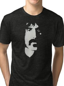 Frank Zappa Silhouette (No Text) Tri-blend T-Shirt