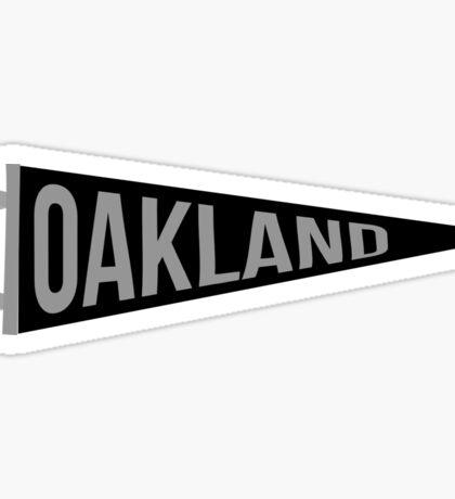 Oakland Pennant Sticker