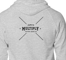 Multiply Cross Simple Zipped Hoodie