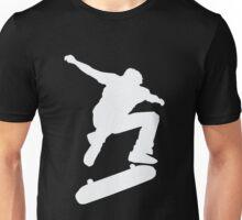Skateboard Skateboarder Trick Ollie Kick Flip Skater  Unisex T-Shirt