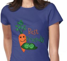 Best Friends, Peas and  Carrots Womens Fitted T-Shirt