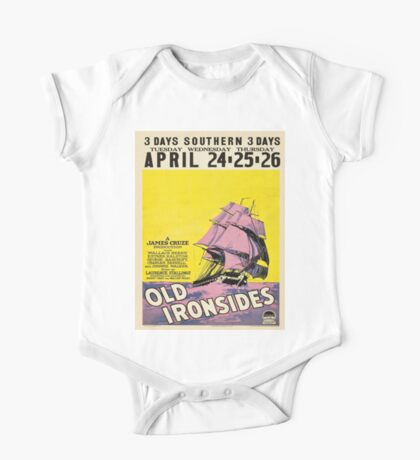 Vintage poster - Old Ironsides One Piece - Short Sleeve