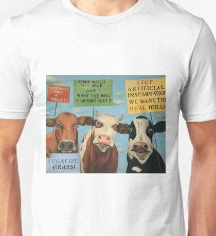 Cows On Strike Unisex T-Shirt