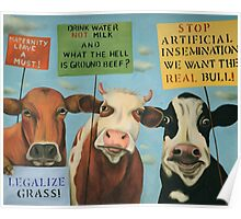 Cows On Strike Poster