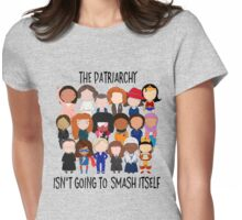 Patriarchy, SMASH Womens Fitted T-Shirt