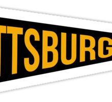 Pittsburgh Pennant Sticker