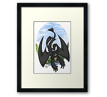 Afternoon Flight - Toothless Framed Print