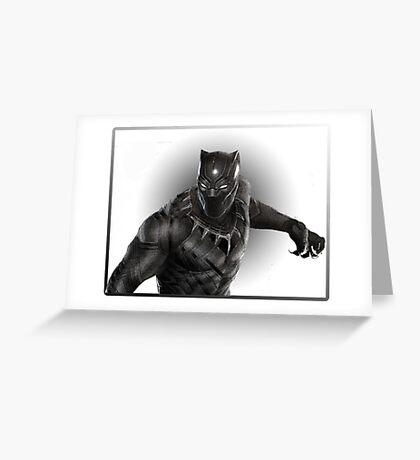 Super heroes Black Panther Greeting Card