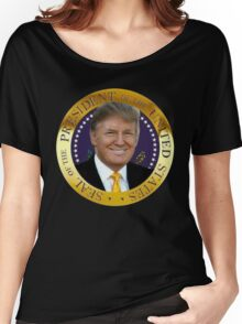 President Donal Trump Seal  Women's Relaxed Fit T-Shirt