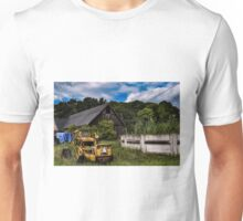 Abandoned small farm in the woods Unisex T-Shirt