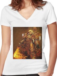 God Emperor Trump Women's Fitted V-Neck T-Shirt