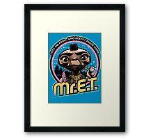 Mr. E.T. - 80s Retro Vintage Mash-Up Framed Print