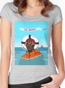 Lil Yachty in ocean Lil Boat Women's Fitted Scoop T-Shirt
