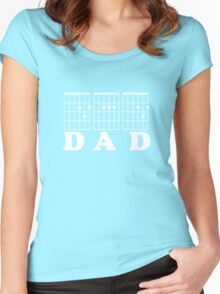 F chord DAD white Women's Fitted Scoop T-Shirt