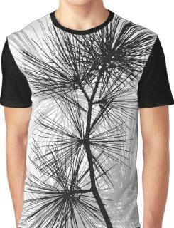 Pine Needles Pattern Graphic T-Shirt