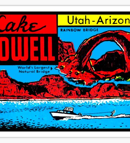 Lake Powell UT AZ Vintage Travel Decal Sticker