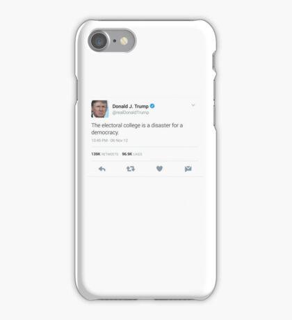 Donald Trump Electoral College Tweet iPhone Case/Skin