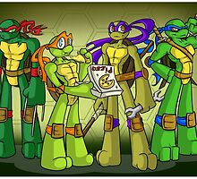 Turtle Power! by mortiwear