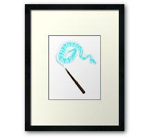 Patronus serpiente Framed Print