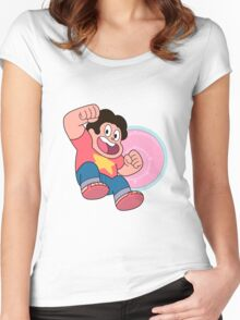 Steven Universe Crystal Gems Shield Women's Fitted Scoop T-Shirt