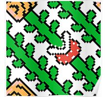 Super Mario Bros. 3 Plants (Pattern) Poster