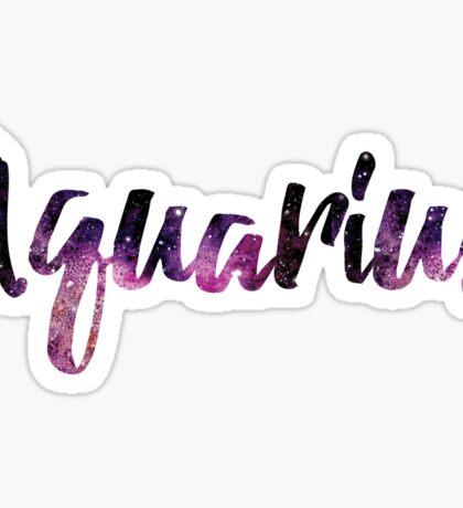 Aquarius Zodiac Sign Sticker