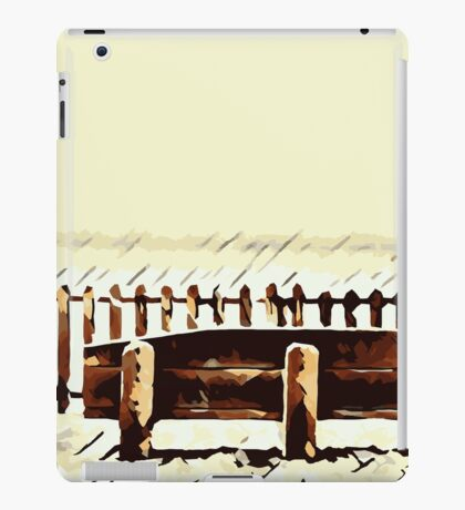 wooden bench and wooden fence  iPad Case/Skin
