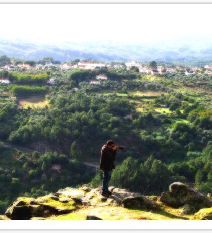 A Photographer's View from Monte da Senhora da Confianca  Sticker