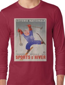 Vintage poster - Sports D'Hiver Long Sleeve T-Shirt