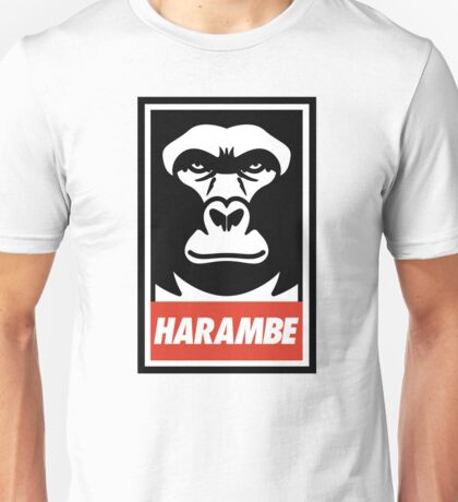 Obey Harambe Shirt Support T-Shirt Unisex T-Shirt