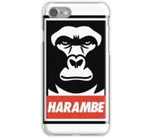 Obey Harambe Shirt Support T-Shirt iPhone Case/Skin