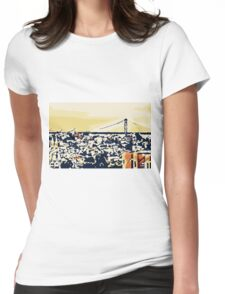 buildings and the bridge Womens Fitted T-Shirt